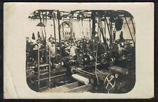 Cpa Carte Photo Audincourt assemblage des obus à l'usine Peugeot