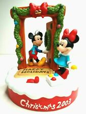 "Disney Christmas 2003 Mickey & Minnie Limited ""Home for the Holidays"" Figurine"