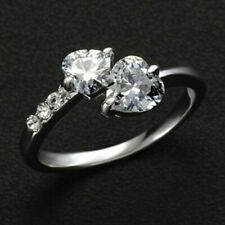 14k White Gold Heart Shape Sn Solitaire Awesome Wedding Ring 2.65Ct Diamond In