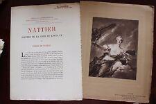 ✒ PROSPECTUS Souscription Pierre de NOLHAC Nattier peintre du Roi 1904 gravure