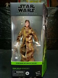 """Star Wars The Black Series Han Solo Endor 6"""" Action Figure. Nice Brand New Box"""