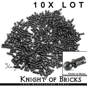 LEGO 10x Lot Part 6628 4184169 BLACK Technic Connector Pin Friction Ridges Ball