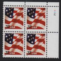 2003 FLAG Sc 3629F plate block of 4 MNH low printing WAG CV $25