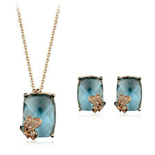 Fashion Jewelry - 18K Rose Gold Plated Butterfly Set (FS066)