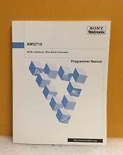 Sony/Tektronix 070-A829-00, AWG710, 4 GHz Waveform Generator Program Manual, New