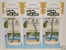 LOT OF 3 YANKEE CANDLE COCONUT BAY CLASSIC CAR JAR AIR FRESHENER CLOSET RV HANG