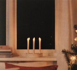 IKEA Strala Kerzenleuchte LED 304.403.47 Fensterbankleuchte Kerzenständer NEUOVP