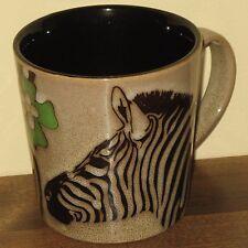 Zebra Coffee Mug Tea Cup Blue Harbor Brown African Animal Mammal