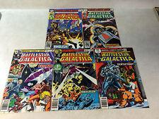 BATTLESTAR GALACTICA #1,2,3,4,5 TV SHOW COMICS, SCI FI, APOLLO, CYLONS, 1979