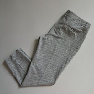 NWT Express Editor Ankle in Black White Windowpane Check Gingham Crop Pants 12