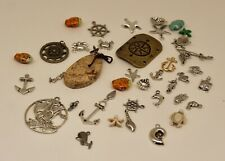 Beach/Nautical Jewelry Beads Lot, Jewelry Supplies