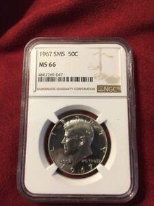 1967 Silver Kennedy NGC SMS 66 * Nice!  Rare! *