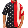 The Flag Shirt Mens Woven American Flag Button Down Patriotic Shirt 4th of July