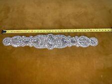 Wedding Dress Applique Rhinestone Crystal Trimming DIY Motif Bridal Prom Bead