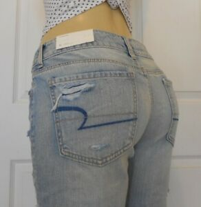 New American Eagle Womens Denim Tomgirl Jeans Size 6