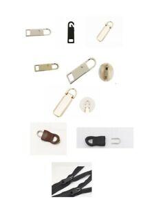 Ersatzzipper für Reißverschluss Zipper Set Reparatur Ersatz Ersatzteil NEU