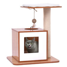 """21"""" Cat Kitty Tree Tower Condo Furniture Scratch Post Pet Play Toy House Wood"""