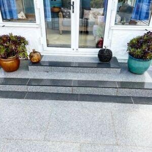 Silver Grey Granite 600x900 Paving Flags Slabs pavers ✔ Anti slip surface