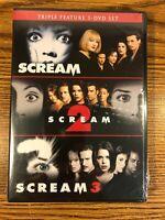 Scream Trilogy Triple Feature DVD Set 1 2 3 Horror 90's Wes Craven BRAND NEW