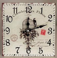 Reloj De Cristal Estilo Vintage Shabby Chic-Jaula De-Nuevo