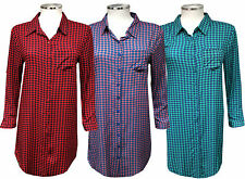 Linen Collared Check Tops & Shirts for Women