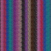 wool knitting yarn Blues-Greys-Lemon-Violet-White NORO :Kureyon #359: