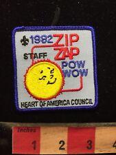 1982 Zip Zap Pow Wow STAFF BSA Patch Boy Scout - Heart Of America Council 70WF