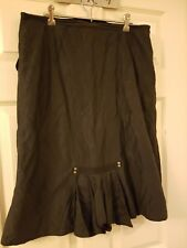 STITCHES Womens black skirt Sz 12 with features EUC