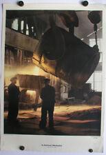 Sublime Tableau Mural dans le Stahlwerk Siemes-Martinofen Acier Kochen 64x92cm