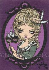 Marie Masquerade Pin Design ACEO Jasmine Becket-Griffith big eye art Strangeling