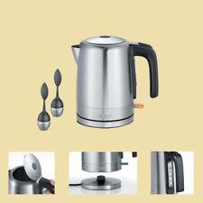 Severin Wasserkocher WK 9477 inklusive 2 Teeeier - 1 Liter - Edelstahl/schwarz