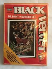 Craft House Black Velvet Oil Paint By Number Set Autumn Beauty #23483 Deer