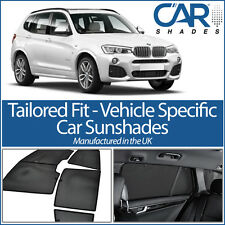 BMW X3 5dr 2010 On UV CAR SHADES WINDOW SUN BLINDS PRIVACY GLASS TINT BLACK