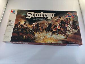 VINTAGE 1986 STRATEGO Board Game Milton Bradley. Battlefield Strategy, Complete