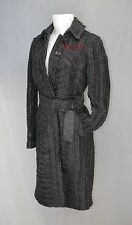 $7,995 Burberry Prorsum Ruched Leather Trench 8 10 42 Coat Women Holiday Gift