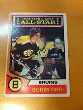 1974/75 Topps Bobby Orr NHL East All Star Boston Bruins Card # 130