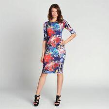 Genuine Miso Gorgeous Graffiti Print 3/4 Sleeve Midi Dress Ladies