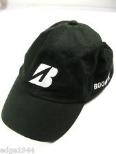 "Handsome Black Bridgestone ""Boom It"" Golf Cap w/ Embroidered Logos & Adj. Strap"