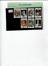7 PCS USED STAMPS -  GRENADA  500TH ANNI. OF BIRTH MICHELANGELO # S180