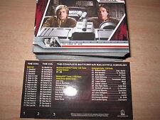 THE COMPLETE BATTLESTAR GALACTICA COMPLETE FULL BASE SET 72 CARTES 2004
