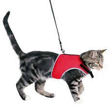 41896 BLACK Trixie Large Cat Full Soft Safety Harness with Lead