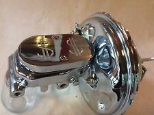 1970-81 Camaro Firebird Chrome brake booster & $$ top master cyl 4 wheel disc
