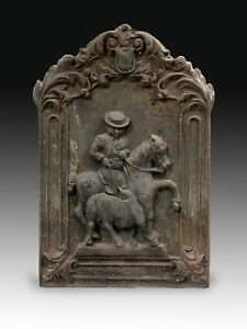 Fireplace plate with Picador, bullfighting. Cast iron. Spain, 20th century.