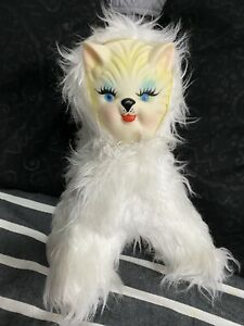 Vintage Rubber Face Plush Cat