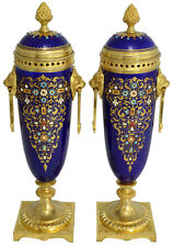 Vases porcelaine. uhren clock bronze pendule antique chandelier sevres biscuit