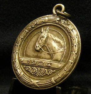 URUGUAY 1924 JOCKEY CLUB MONTEVIDEO HORSE EQUESTRIAN DESIGN MEMBER SILVER MEDAL