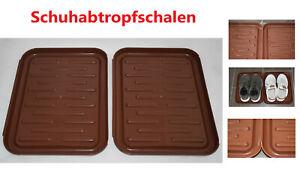 Schuhmatte Schuhablage Unterlage Untersetzer 71 x 35 cm Abtropfschale Napf
