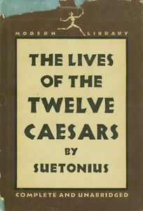 1959 Modern Library HC Twelve Caesars Ancient Rome Julius Augustus Caligula Nero