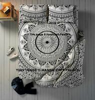 Indian Duvet Doona Cover With Mandala Bed sheet & Pillows Queen Quilt Cover Set
