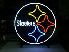 "PITTSBURGH STEELERS BEER BAR CLUB LAMP POSTER NEON LIGHT SIGN 15""x15"" AL036"